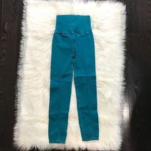 Free People Pants - TEAL FP Leggings XS/S